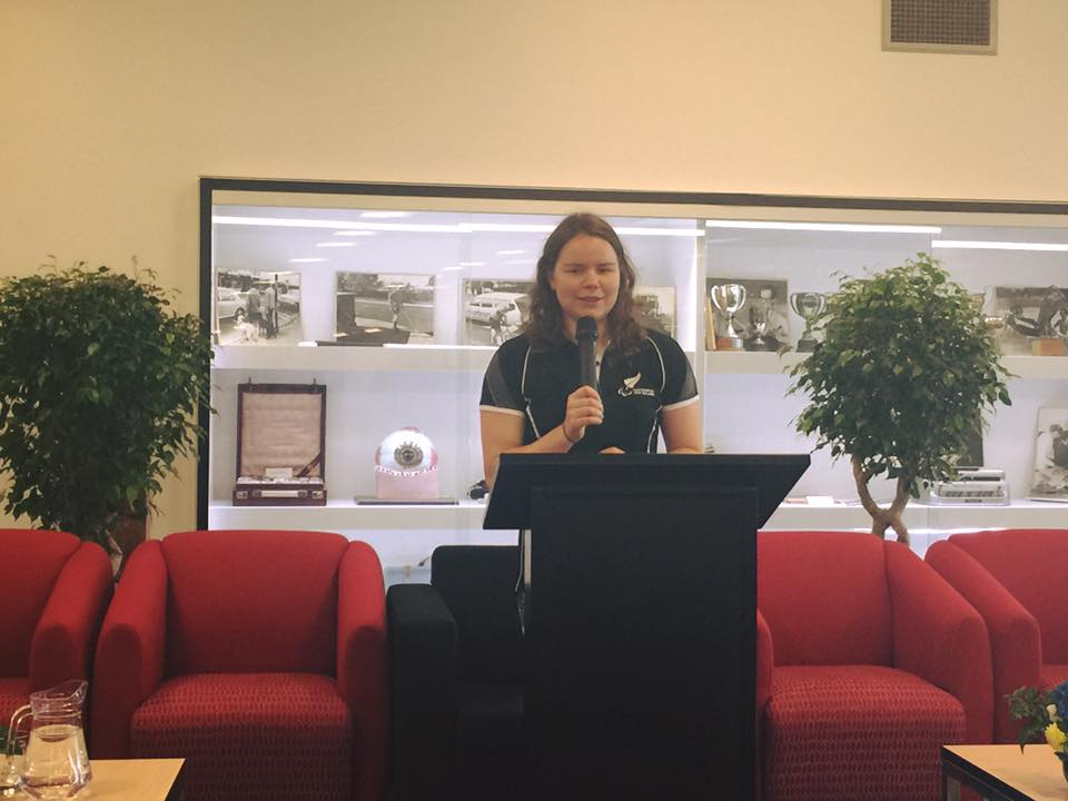 Mary Fisher spoke at the BLENNZ Conference.  Mary is an inspiring athlete who will be competing as a swimmer in the upcoming Paralympic Games in Brazil.